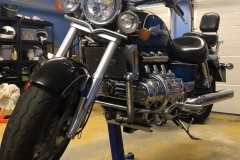 Honda Valkyrie lift with Big Blue
