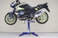 BMW motorcycle lifted with Big Blue