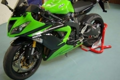 Kawasaki Ninja motorcycle wheel chock